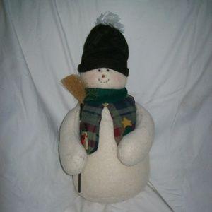 Country/Primitive Plush Snowman Decoration